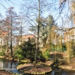 Мини езерце около promenade-то